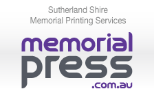 Memorial Press - Sutherland Shire Memorial Printing Services