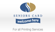 Seniors Card Welcome Here - For all Printing Services