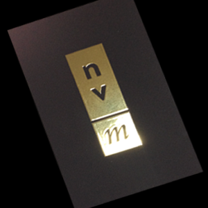 Business Cards with Raised Metallic Gold
